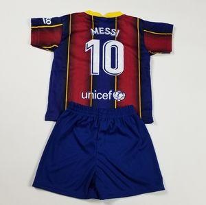 Barcelona kids soccer jersey and shorts